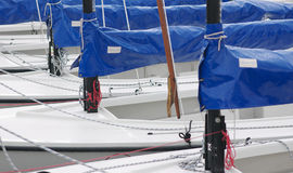 Barche che aspettano concorrenza Fotografia Stock