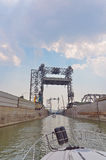 Barche che forniscono la st Lambert Lock vicino a Montreal Immagine Stock Libera da Diritti