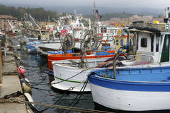 Barche da佩斯卡ormeggiate Al波尔图 免版税库存图片