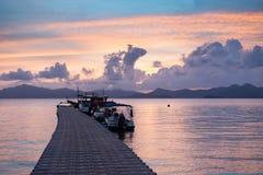 Barche dal bacino Fotografia Stock Libera da Diritti