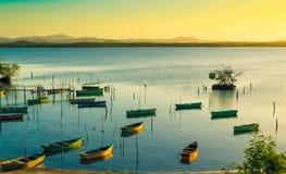 Barche dei pescatori Fotografia Stock