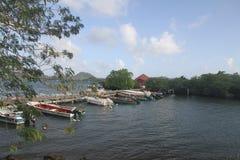 Barche dei pescatori - la Martinica - FWI - i Caraibi fotografie stock