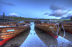 Barche del distretto del lago Fotografia Stock