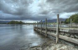 Barche del distretto del lago Fotografie Stock