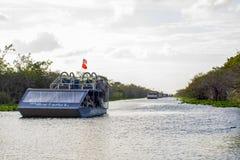 Barche del fan dei terreni paludosi Fotografie Stock