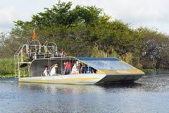 Barche del fan dei terreni paludosi Immagini Stock
