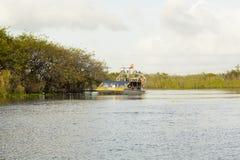 Barche del fan dei terreni paludosi Fotografia Stock