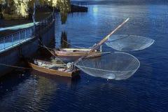 Barche del gamberetto Fotografie Stock