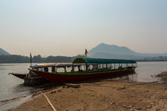 Barche del Mekong Fotografia Stock Libera da Diritti