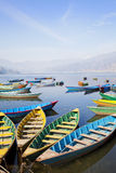 Barche del Nepali Fotografie Stock Libere da Diritti
