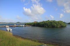 Barche del pescatore - la Martinica - FWI - i Caraibi fotografie stock