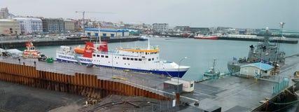 Barche del porto di Reykjavik, Islanda Fotografia Stock