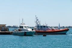 Barche della guardia costiera Immagine Stock Libera da Diritti