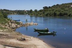 Barche di Almourol Fotografie Stock