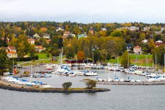 Barche di autunno Fotografia Stock