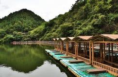 barche di bambù Fotografia Stock