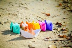 Barche di carta Immagini Stock