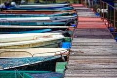 Barche di fiume Immagini Stock Libere da Diritti