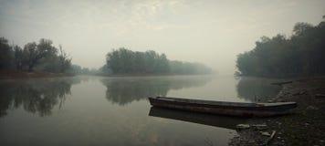 Barche di fiume Immagini Stock