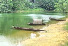 Barche di fiume Fotografia Stock