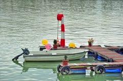 Barche di fiume Fotografie Stock Libere da Diritti