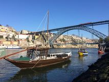 Barche di fiume del Duero Immagine Stock Libera da Diritti