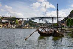 Barche di fiume tipiche del Duero Fotografia Stock Libera da Diritti