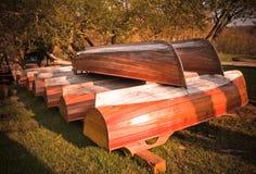 Barche di legno Immagine Stock