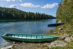 Barche di legno lunghe Fotografia Stock Libera da Diritti
