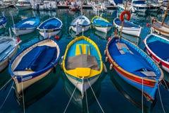 Barche di legno, a sud della Francia Fotografie Stock Libere da Diritti