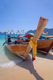 Barche di Longtail, Tailandia Fotografie Stock