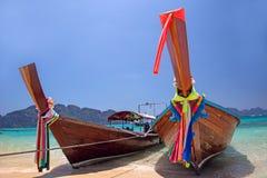 Barche di Longtail, Tailandia Fotografia Stock