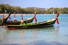 Barche di Longtail in Tailandia Immagine Stock