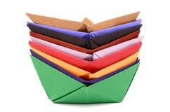 Barche di origami Fotografia Stock
