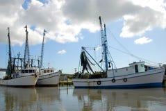 Barche di pesca professionale attraccate Fotografia Stock
