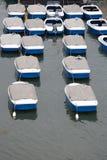 Barche di ricreazione in una riga Fotografia Stock