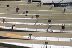 Barche di riga sul fiume Dee Fotografia Stock Libera da Diritti