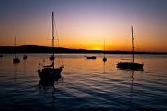 Barche di sonno Immagine Stock