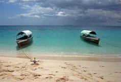 Barche di Zanzibar Immagine Stock