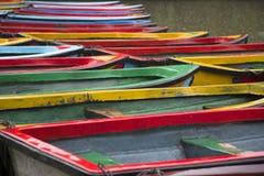 Barche e lago Immagine Stock