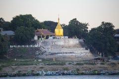 Barche e pagoda fotografia stock libera da diritti
