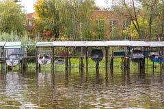 Barche estratte di acqua Fotografia Stock Libera da Diritti