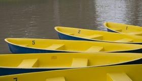 Barche gialle fotografia stock