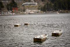 Barche giapponesi in laghi a Hakone Fotografia Stock