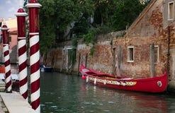 Barche Gondola Venezia Fotografia Stock