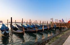 Barche Gondola Venezia Fotografia Royalty Free