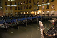 Barche Gondole Venezia Royaltyfri Bild
