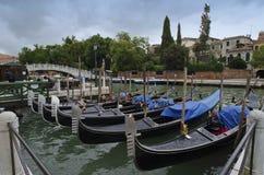 Barche Gondole Venezia Fotografering för Bildbyråer