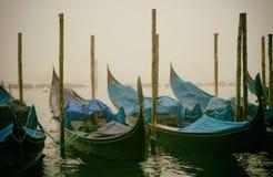 Barche Gondole Venezia Arkivfoto