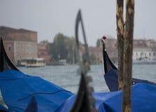 Barche Gondole Venezia stock fotografie